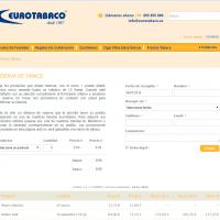 Precios y reservas de tabaco en Eurotabaco