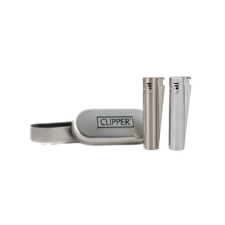 Clipper Jet lighter silver