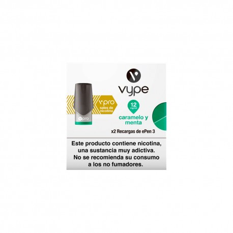 Caramel and mint VYPE ePen 3 liquid pod