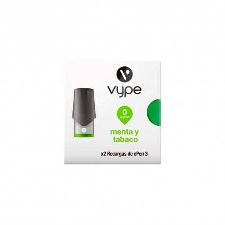 Tobacco and mint VYPE ePen 3 liquid pod