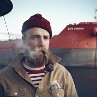 Sailor smoking a pipe