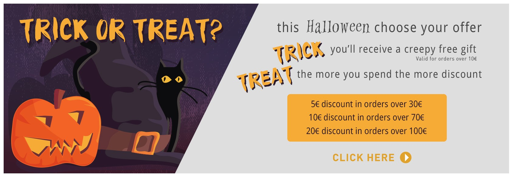 Halloween Promotion: Trick or treat?